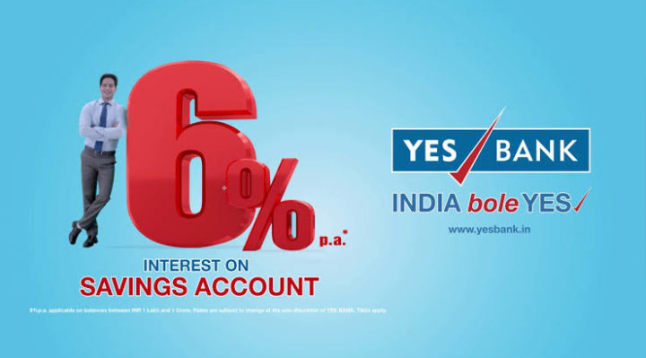 Yes bank savings account opening